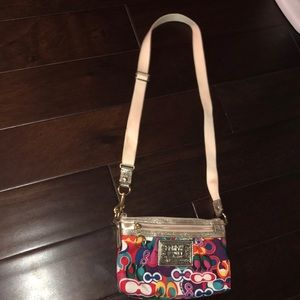 Rainbow coach purse